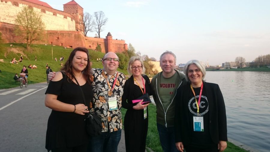 The OER Hub team in Krakow, Poland